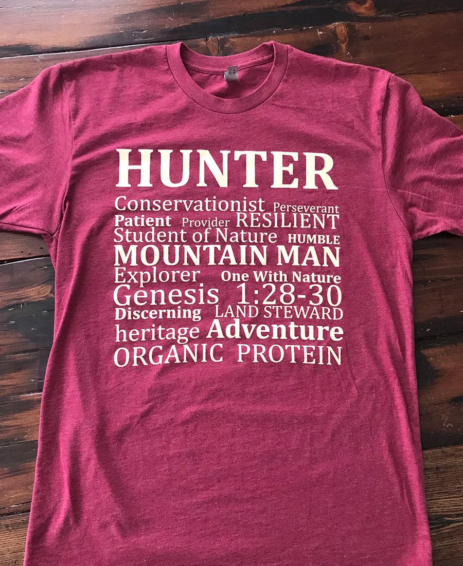 d0eae6b0b0b4b Alaska Big-Game Hunting - HUNTER T-Shirt - Billy Molls Adventures